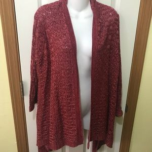 A.n.a red combo cardigan